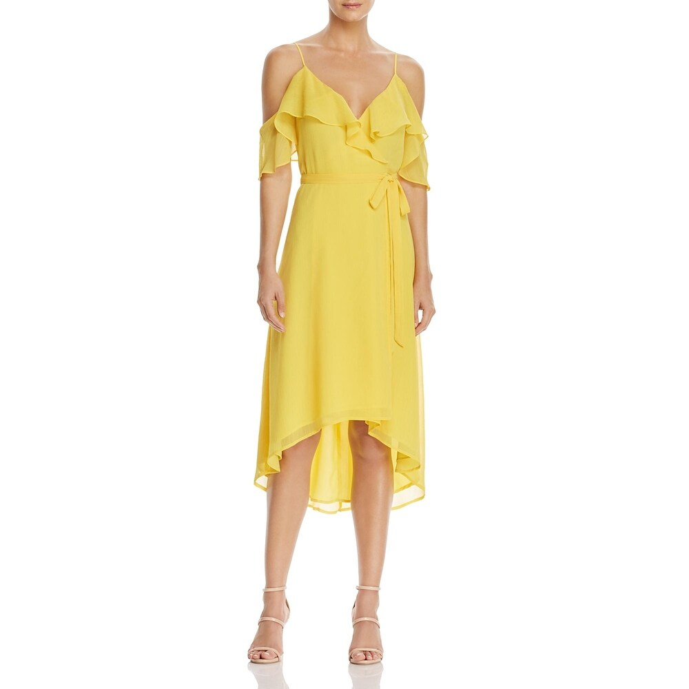 WAYF Womens Walden Cocktail Dress Off-The-Shoulder Wrap