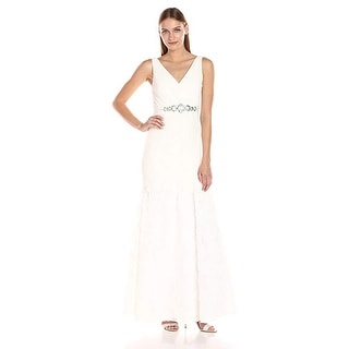 Link to Adrianna Papell Women's Sleevless Tuille Chiffon Petal Gown Similar Items in Tops