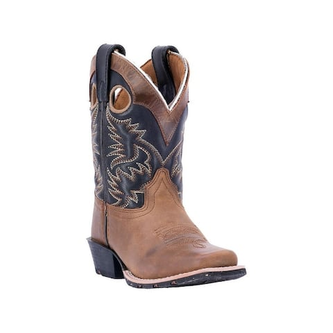 Dan Post Western Boots Boys Rascal Rubber Aged Bark Black