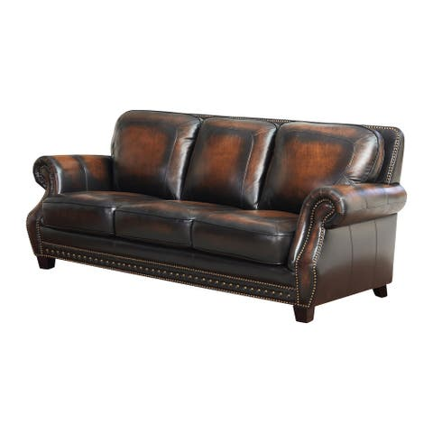 Copper Grove Crawford Leather Sofa