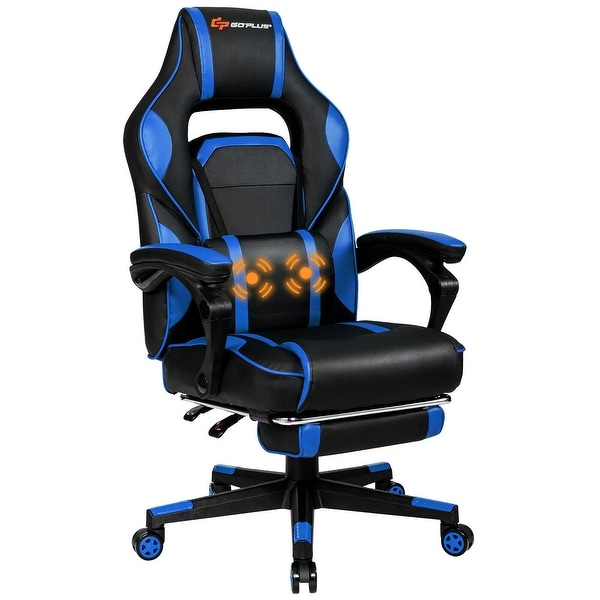 Goplus Massage Gaming Chair Reclining Racing Computer Office Chair. Opens flyout.