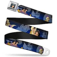 Jasmine Close Up Full Color Aladdin & Jasmine Scenes Webbing Seatbelt Belt Seatbelt Belt