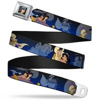 Jasmine Close Up Full Color Aladdin & Jasmine Scenes Webbing Seatbelt Belt Seatbelt Belt Standard