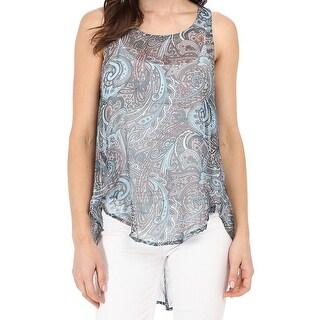 Michael Stars NEW Blue Women's Size XS Tank Cami Printed Blouse