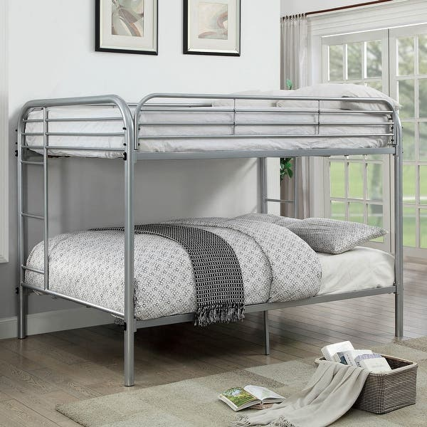 Furniture Of America Loo Contemporary Full Full Metal Bunk Bed On Sale Overstock 21131617