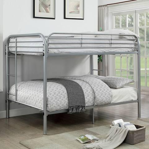 Furniture of America Loo Contemporary Full/Full Metal Bunk Bed