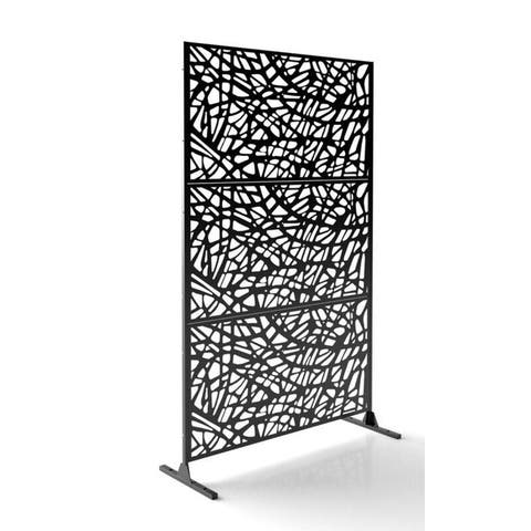 6ft x 4ft Free Standing Laser Cut Metal Screen Panel Privacy Stand