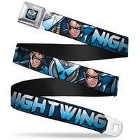 Nightwing Logo2 Full Color Black Blues Yellow Nightwing Poses Logo Black Seatbelt Belt