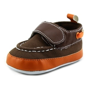 Luvable Friends Gabe Infant Round Toe Canvas Brown Bootie