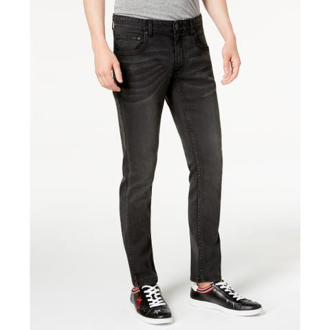 INC International Concepts Men's Skinny Jeans Black Size 40X32