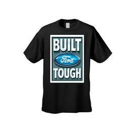 Men's T-Shirt Ford Built Tough Racing Trucks Cars SUV Vintage Repair Shop Tee