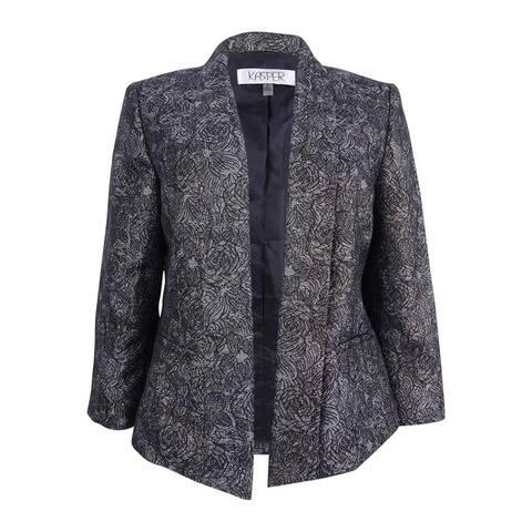 Kasper Women's Goldtone Printed Jacket (10, Gold Multi)