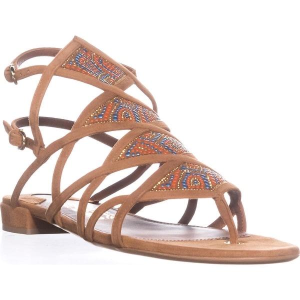 Salvatore Ferragamo Essie Double Buckle Flat Sandals, Sella