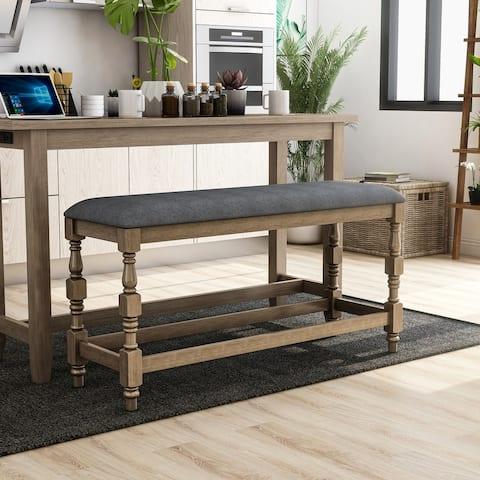 Furniture of America Adagio Farmhouse Counter Height Bench