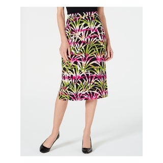 Link to KASPER Womens Green Printed Below The Knee A-Line Skirt  Size XS Similar Items in Skirts