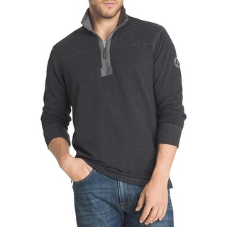 G.H. Bass & Co. Mens 1/2 Zip Sweater Quilted Long Sleeves