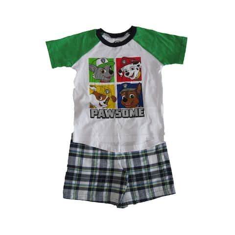 Nickelodeon Green White Paw Patrol Short Sleeve Outfit Little Boys