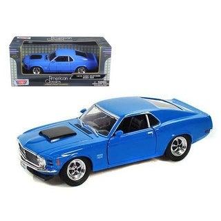 1970 Ford Mustang Boss 429 Blue 1/24 Diecast Model Car by Motormax