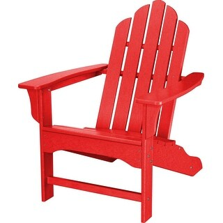 Hanover Outdoor HVLNA10SR All-Weather Contoured Adirondack Chair - Sunset Red