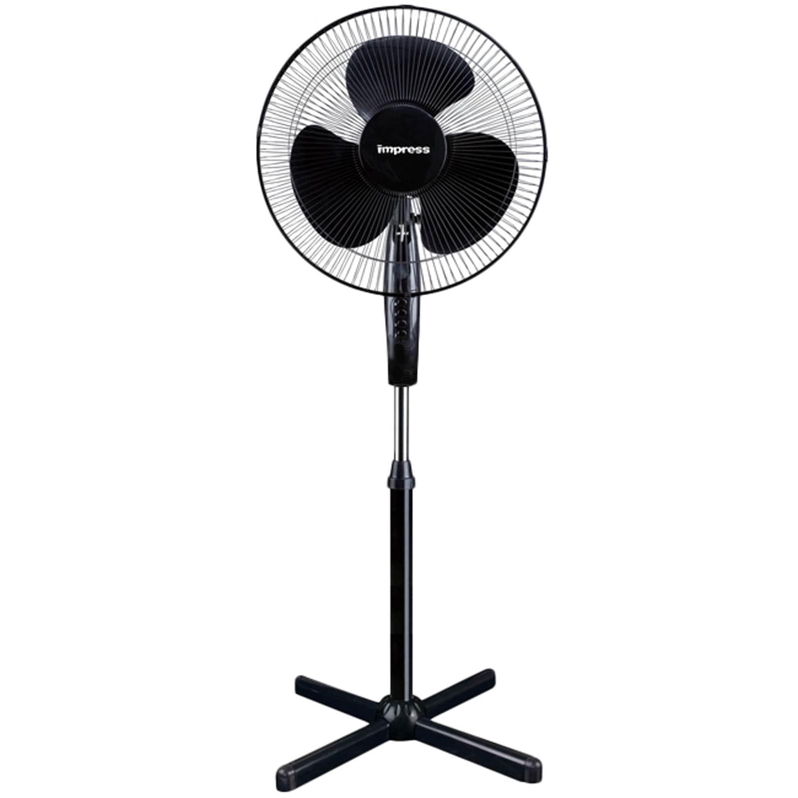 Impress 16 Oscillating Stand Fan (black) IM-725B