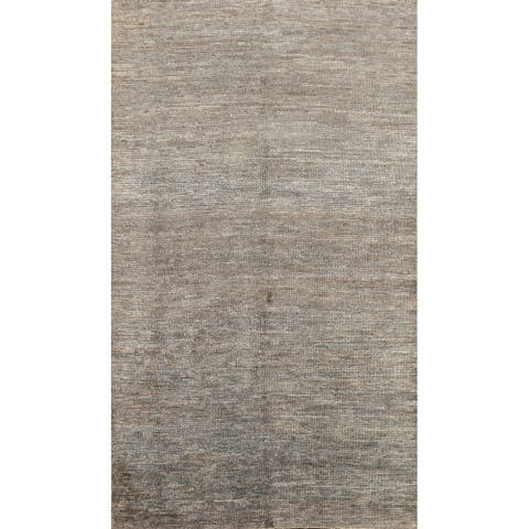 """Abstract Contemporary Oriental Area Rug Hand-knotted Office Carpet - 5'0"""" x 7'11"""""""