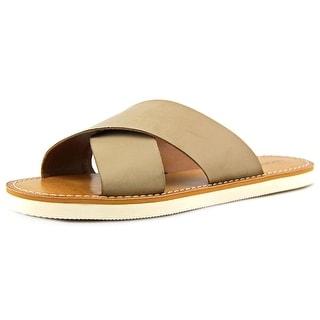 Lucky Brand Dadeen Open Toe Leather Slides Sandal