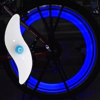 Image 6PCS LED Bike Spoke Wheel Lights Bicycle Valve Tire Rim Safety Lights Blue