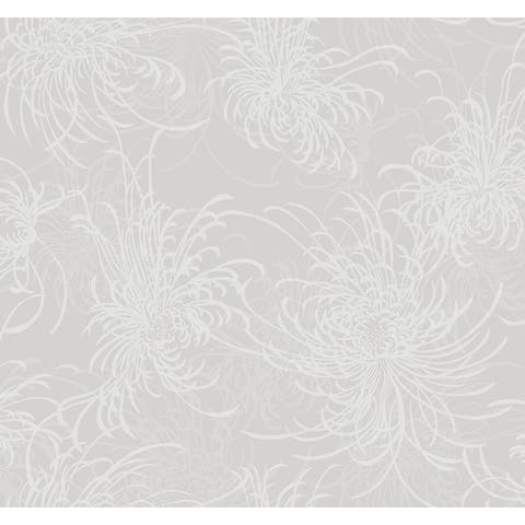 Seabrook Designs Noell Floral Unpasted Wallpaper