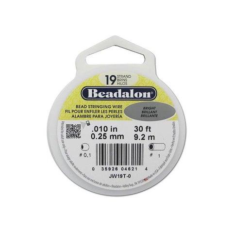 "Beadalon Bead Wire 19Strand .010"" Bright 30'"