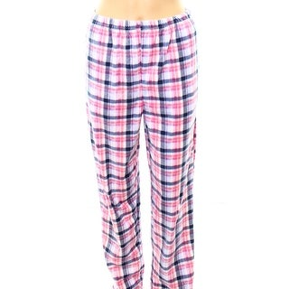 Alexander Del Rossa NEW Pink Womens Size Small S Plaid Sleep Pants