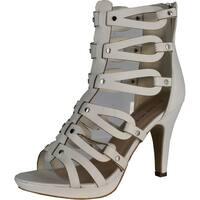 Top Moda Women's Spin-28 Gladiator High Heel Sandals - Beige