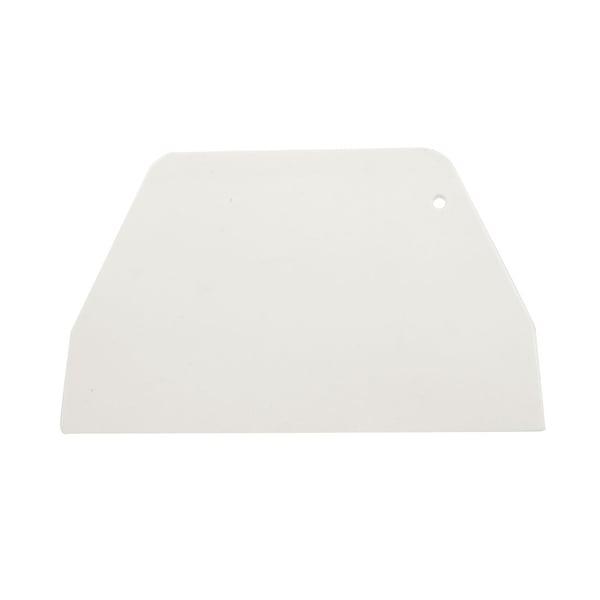 "19cm x 12.5cm Flat Plastic Cake Decorator Dough Pasty Scraper Tool - White - 7.5"" x 4.9"" x 0.2"" (L*W*H)"