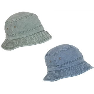 Scala Classico Cotton Washed Sun Bucket Hat (Pack of 2)