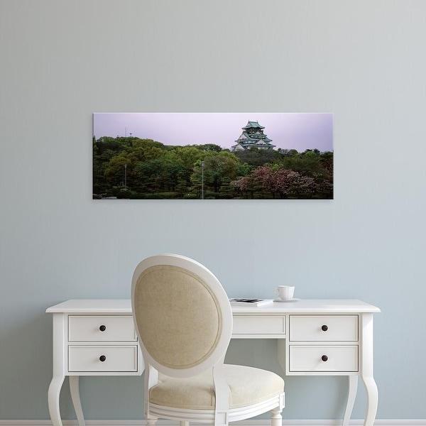 Easy Art Prints Panoramic Image 'Osaka Castle, Chuo Ward, Osaka Prefecture, Kinki Region, Honshu, Japan' Canvas Art