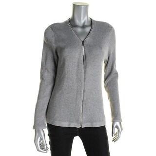 Calvin Klein Womens Cardigan Sweater Shimmer Metallic