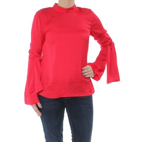 RACHEL ROY Womens Red Tie Sleeve Long Sleeve Top Size: 2