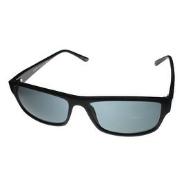 Perry Ellis Mens Sunglass PE63 1 Black Fade Plastic Rectangle, Smoke Gray Lens
