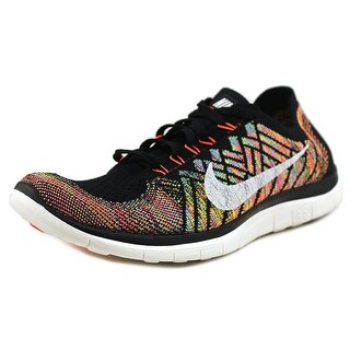 Nike Free 4.0 Flyknit Men Round Toe Synthetic Multi Color Running Shoe