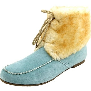 Lamo Lace Up Moccasin Women Round Toe Leather Winter Boot