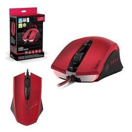 Speedlink Red Maximum 3000-dpi Optical Sensor Symmetrical Left/ Right-handed Ledos Gaming Mouse For PC