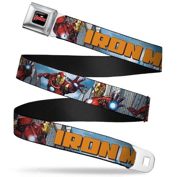 Marvel Avengers marvel Avengers Logo Full Color Black Red White Iron Man W Seatbelt Belt