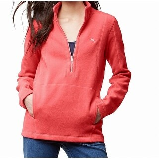 Tommy Bahama Pink Women's Size Small S 1/2 Zip Pocket Sweater