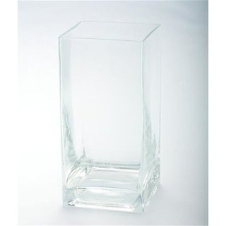 Diamond Star 84809C 4 x 4 x 8 in. Square Glass Container Clear