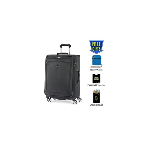 """Travelpro Marquis 2 - Black 25"""" Expandable Spinner w/ Integrated TSA Lock & 2"""" Expansion Capability"""