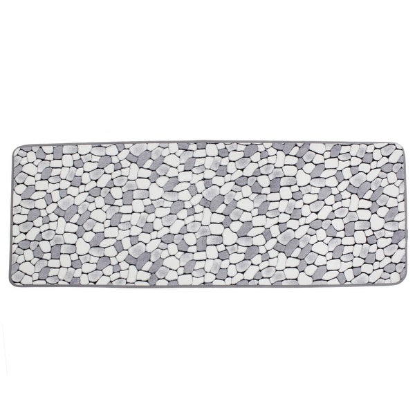White Kitchen Floor Mats: Shop White Gray Cobblestone Patetrn Kitchen Antislip