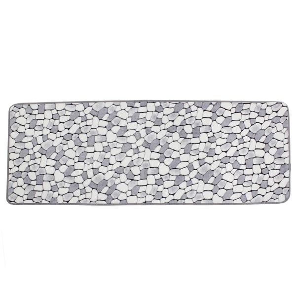 Shop White Gray Cobblestone Patetrn Kitchen Antislip Doormat Floor