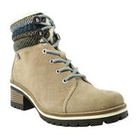 Anne Klein Womens Aklangstyn Khaki Ankle Boots Size 8