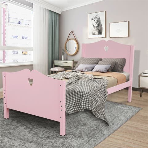 Bed Frame Twin Platform Bed with Headboard and Footboard