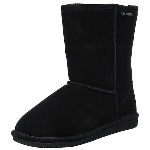 Bearpaw Womens Emma Short Suede Round Toe Mid-Calf Cold Weather Boots