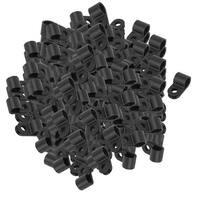 Unique Bargains 291Pcs Black Plastic R Type Cable Clip Clamp for 7.8mm Dia Wire Hose Tube